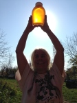 The biggest jar of honey I've ever seen!! Its so apparent that honey is liquid Sunshine! Thanks to the beautiful, dutiful bees!!