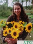 Apprentice Kat and some super sunny sunflowers 2011
