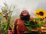 Apprentice Jane picks flowers on a misty harvest morning, 2011