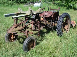 """Our Allis-Chalmers """"G"""" Cultivating Tractor Prior to Conversion"""